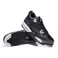 "Air Jordan 4 Retro ""Oreo"" Black Leather/White Speckle New Release"