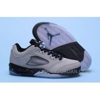 "2018 Air Jordan 5 Low ""Wolf Grey"" Wolf Grey/Black-Black New Release"