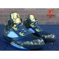 "2018 Air Jordan 5 ""Wings"" Olympic Gold Medal For Sale"
