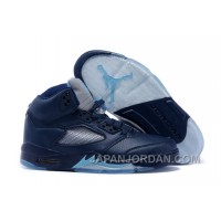 "2018 Air Jordan 5 ""Hornets"" Midnight Navy/Turquoise Blue-White Authentic"