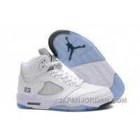 2018 Air Jordan 5 White/Metallic Silver Top Deals