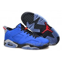"New Air Jordan 6 Low ""Eminem"" Blue Black/Grey Discount"