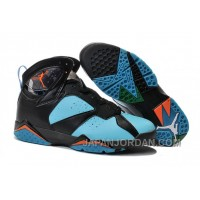 New Air Jordan 7 Black Blue Orange Shoes Top Deals