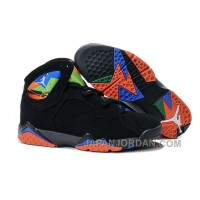 New Air Jordan 7 Black Orange Shoes Online