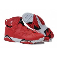 New Air Jordan 7 Red Black White Shoes Super Deals