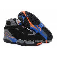 New Air Jordan 8 Black/Bright Citrus-Cool Grey-Deep Royal Blue For Sale
