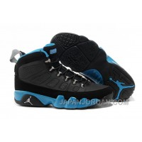 New Air Jordan 9 Black/Matte Silver-University Blue Online