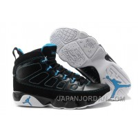 New Air Jordan 9 Black/Photo Blue-White Super Deals
