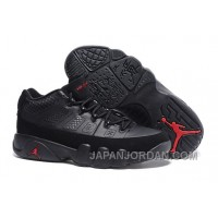New Air Jordan 9 Low Black/Varsity Red Top Deals