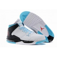New Jordan Flight Origin White/Black/Gamma Blue/Gym Red Lastest