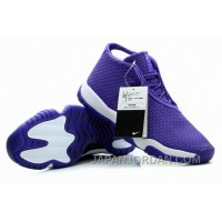 New Air Jordan Future Glow Purple White Authentic