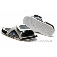 2018 Jordan Hydro 13 Slide Sandals White Black Blue Cheap To Buy
