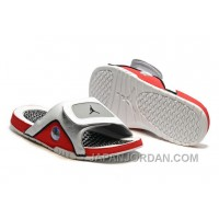 2018 Jordan Hydro 13 Slide Sandals White/Black/True Red/Cement Grey Super Deals