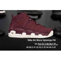 Nike Air More Uptempo Burgundy Men/Women For Sale