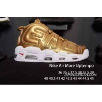 Nike Air More Uptempo White Golden Men/Women Free Shipping
