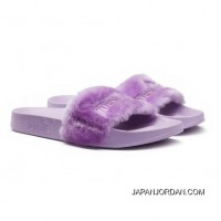 Fur Womens Slide Sandals Orchid Bloom-Puma Silver Free Shipping