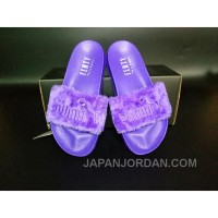 PUMA BY RIHANNA LEADCAT FENTY FUR SLIDE Purple Lastest