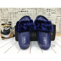 PUMA BY RIHANNA LEADCAT FENTY FUR SLIDE Blue Top Deals