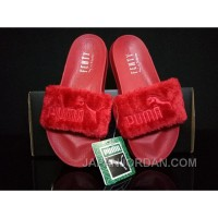 PUMA BY RIHANNA LEADCAT FENTY FUR SLIDE Red Christmas Deals