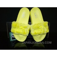 Online PUMA BY RIHANNA LEADCAT FENTY FUR SLIDE Yellow
