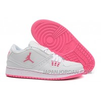New Air Jordan 1 Low GS White Pink For Sale Super Deals