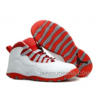 New Air Jordan 10 Retro White/ Varsity Red Online