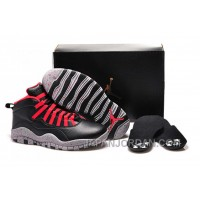 "New Air Jordan 10 GS ""PSNY"" X Public School Black-Grey/Gym Red Authentic"