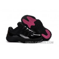 2018 Air Jordan 11 Low Black Pink Lovers Shoe For Sale