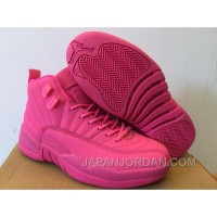New Air Jordan 12 GS All Pink Shoes Super Deals