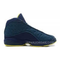 New Air Jordan 13 Retro Squadron Blue/Electric Yellow-Black Lastest