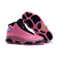 2018 Air Jordan 13 GS Black Pink Leopard Print Shoes Discount