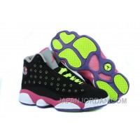 New Air Jordan 13 GS Black-Pink/Venom Green Online