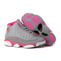 Air Jordan 13 GS Gray Pink White New Release