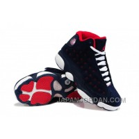 New Air Jordan 13 GS Suede Dark Blue/Red-White Discount