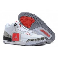 New Air Jordan 3 Retro '88 White/Fire Red-Cement Grey-Black Discount