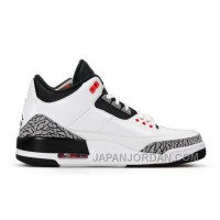 New Air Jordan 3 Retro White/Black-Wolf Grey-Infrared 23 Free Shipping
