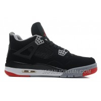 "New Air Jordan 4 ""Bred"" Black/Cement Grey-Fire Red Super Deals"