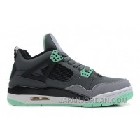 New Air Jordan 4 Retro Dark Grey/Green Glow-Cement Grey-Black Top Deals