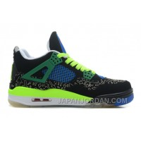 "New Air Jordan 4 Retro Doernbecher ""Superman"" Black/Old Royal-Electric Green-White Cheap To Buy"