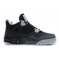 "New Air Jordan 4 Retro ""Fear"" Black/White-Cool Grey-Pure Platinum Free Shipping"