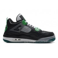 "New Air Jordan 4 Retro ""Oregon Ducks"" Black/Metallic Oregon Gren-Grey-White Cheap To Buy"