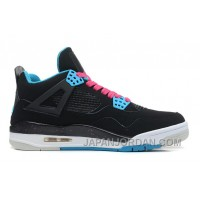 "New Air Jordan 4 Retro ""South Beach"" Black/Dynamic Blue-White-Vivid Pink Cheap To Buy"