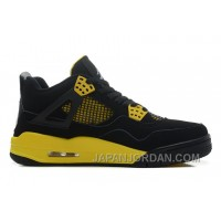 "Air Jordan 4 Retro ""Thunder"" Black/White-Tour Yellow New Release"