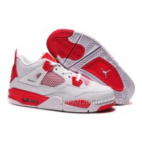 "New Air Jordan 4 Retro ""Melo"" PE White Red Top Deals"
