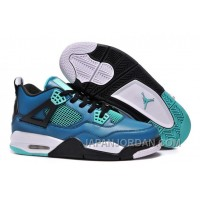 "New Air Jordan 4 Retro ""Teaser"" Teal/Black-White Super Deals"