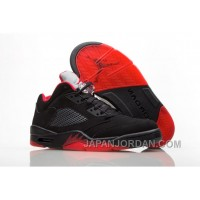 "2018 Air Jordan 5 Low ""Alternate '90"" Black/Gym Red-Metallic Hematite Top Deals"