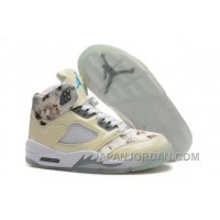 New Air Jordan 5 GS Beige Cherry Blossom Discount