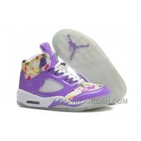 New Air Jordan 5 GS Purple Cherry Blossom Super Deals