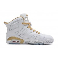 "New Air Jordan 6 Retro ""Gold Medal"" White/Gym Red-Metallic Gold-Sail Cheap To Buy"