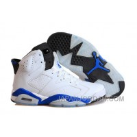 "Air Jordan 6 Retro ""Sport Blue"" White/Sport Blue-Black New Release"